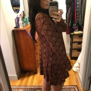 fitted patterned trendy t-shirt dress